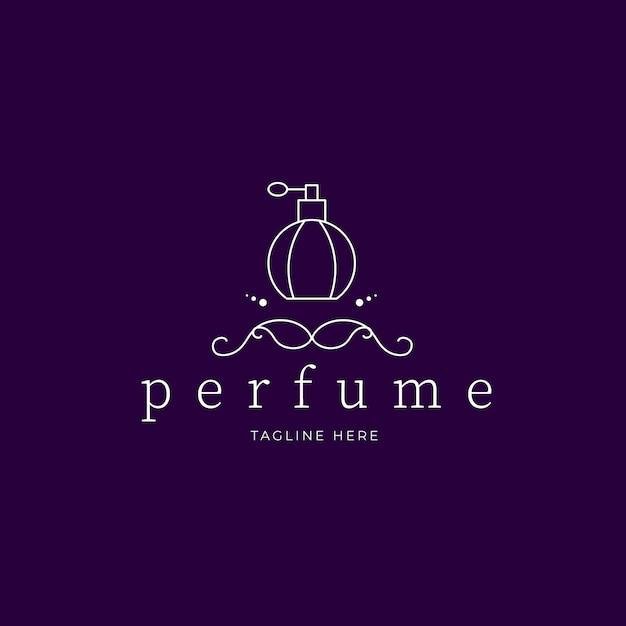 Logotipo de perfume de luxo Vetor grátis