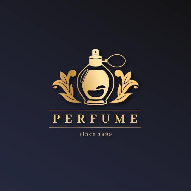 Logotipo de perfume luxuoso Vetor grátis