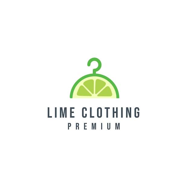 Logotipo de roupas de limão Vetor Premium