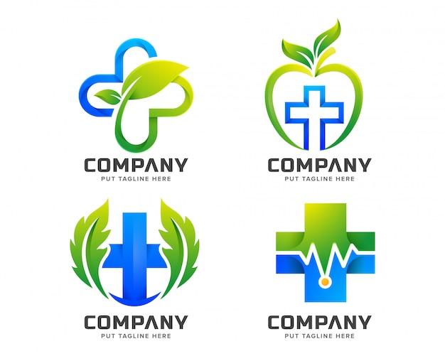 Logotipo de saúde médico para empresa Vetor Premium