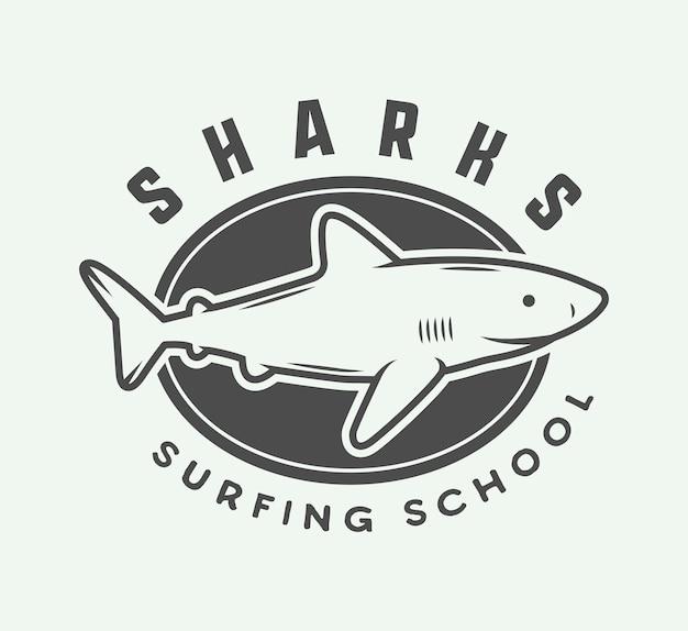Logotipo de surf, emblema Vetor Premium