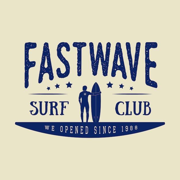 Logotipo de surf Vetor Premium