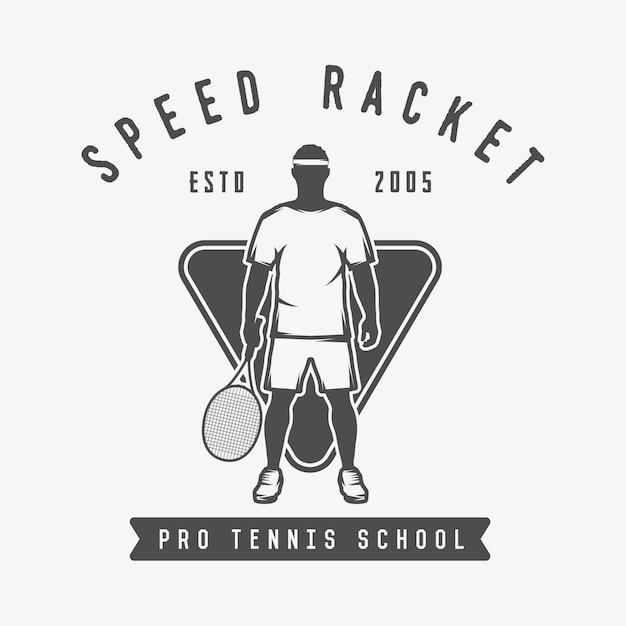 Logotipo de tênis, crachá Vetor Premium