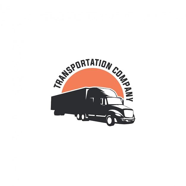 Logotipo de transporte de caminhão Vetor Premium