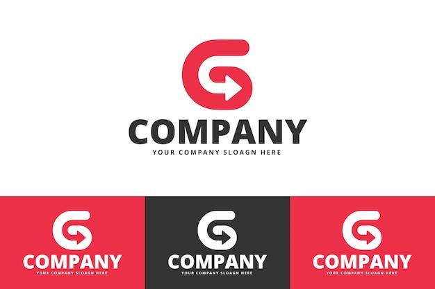 Logotipo de vetor criativo letra g Vetor Premium