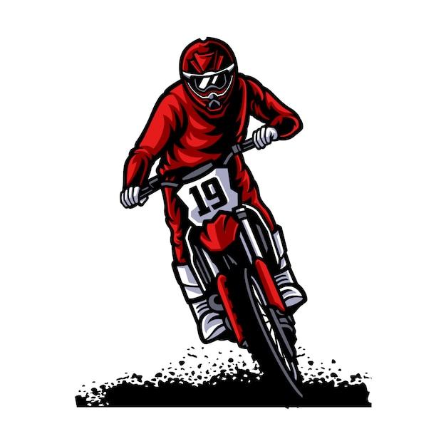 Logotipo de vetor de motocross, freestyle de motocross Vetor Premium