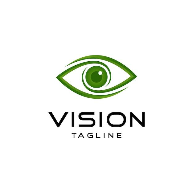 Logotipo de visão abstrata Vetor Premium