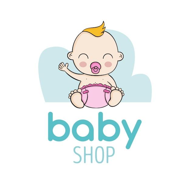 Logotipo detalhado da loja de bebês Vetor grátis