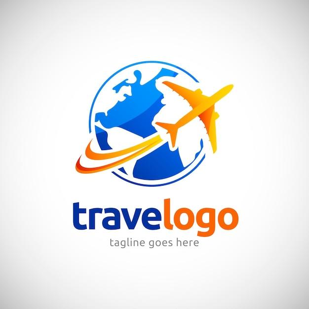 Logotipo detalhado da viagem Vetor Premium