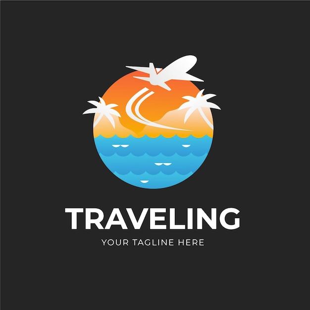Logotipo detalhado da viagem Vetor grátis