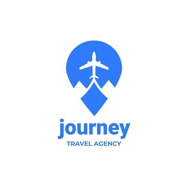 Logotipo detalhado de viagens para agência Vetor grátis