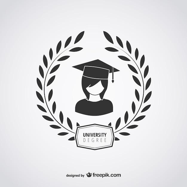 Logotipo diploma universitário Vetor grátis
