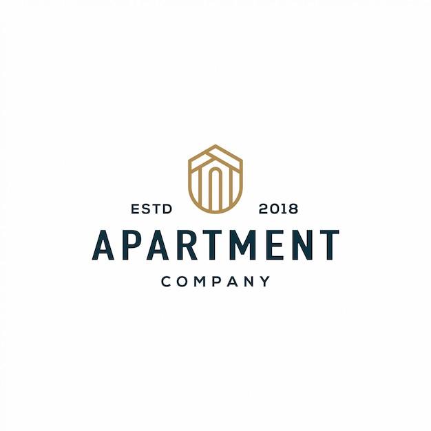 Logotipo do apartamento Vetor Premium