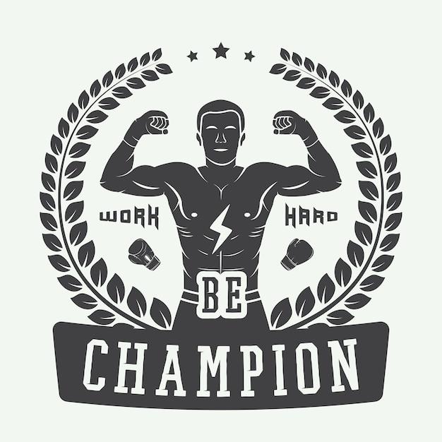 Logotipo do boxe e artes marciais Vetor Premium