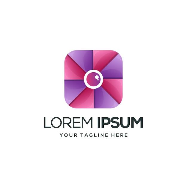 Logotipo do boxshot Vetor Premium