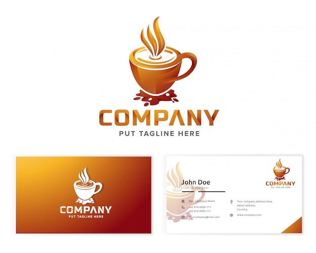 Logotipo do café para empresa de negócios Vetor Premium