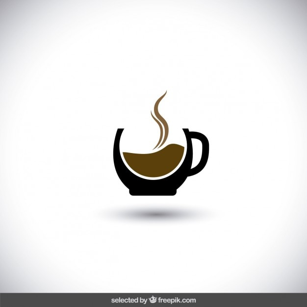 Logotipo do café Vetor grátis
