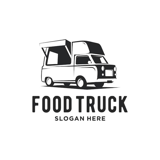 Logotipo do caminhão de comida Vetor Premium