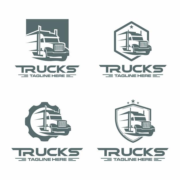 Logotipo do caminhão Vetor Premium
