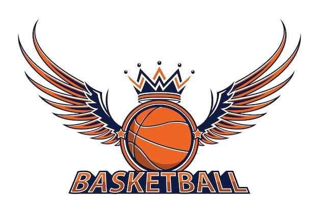 Logotipo do campeonato de basquete Vetor Premium