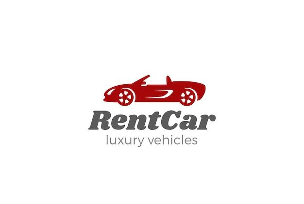 Logotipo do carro cabriolet. Vetor grátis