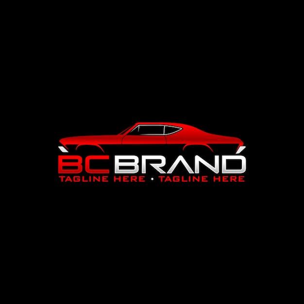 Logotipo do carro do músculo Vetor Premium