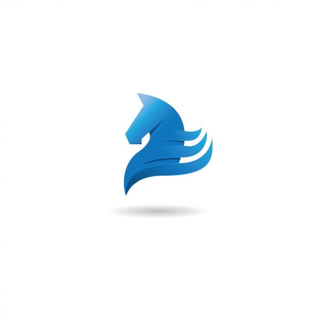 Logotipo do cavalo Vetor Premium