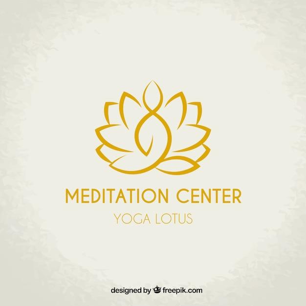 Logotipo do centro de meditação Vetor grátis