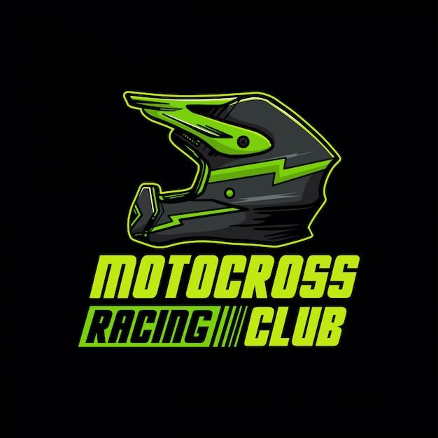 Logotipo do clube de corrida de motocross Vetor Premium