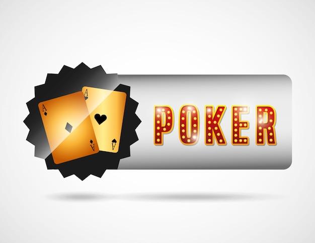 Logotipo do clube de poker Vetor grátis