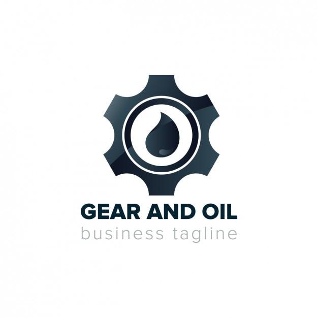Logotipo do conjunto de engrenagens Vetor grátis