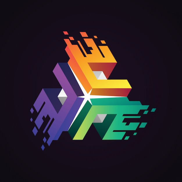 Logotipo do connect digital data Vetor Premium