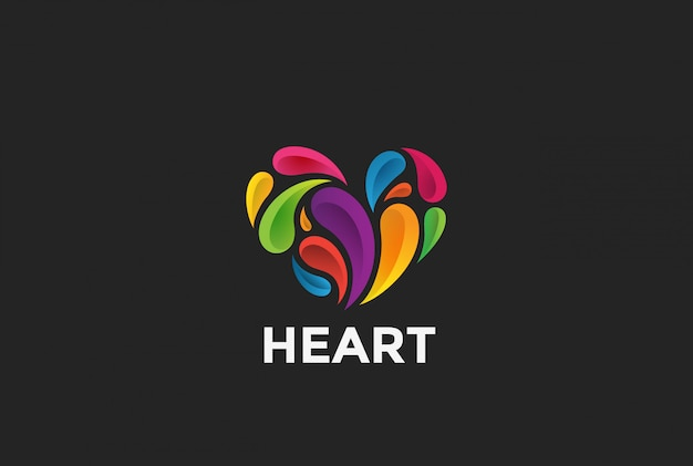 Logotipo do coração Vetor grátis