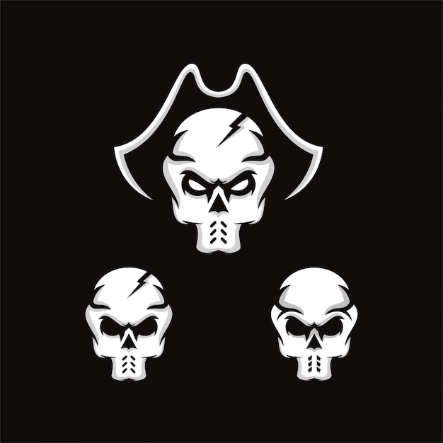 Logotipo do crânio Vetor Premium
