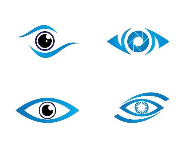 Logotipo do cuidado do olho Vetor Premium