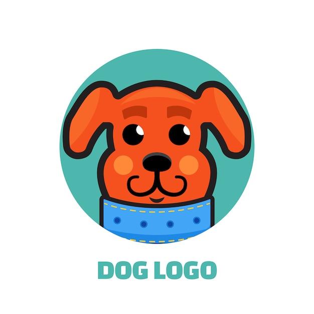 Logotipo do dog walker Vetor Premium