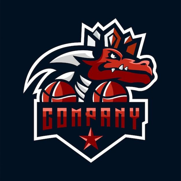 Logotipo do dragão Vetor Premium