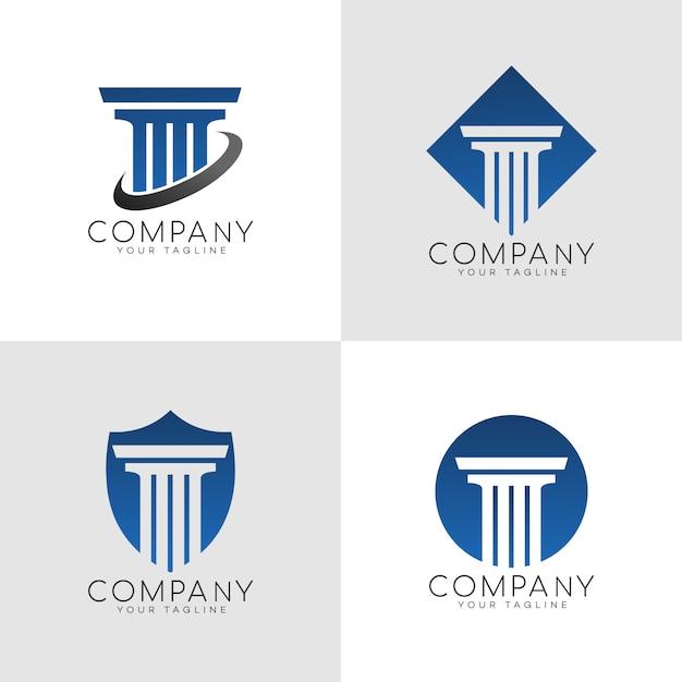 Logotipo do escritório de advocacia Vetor Premium