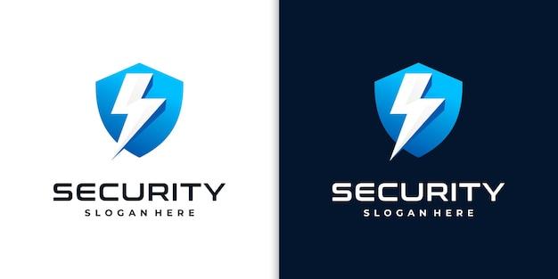 Logotipo do escudo criativo para segurança Vetor Premium