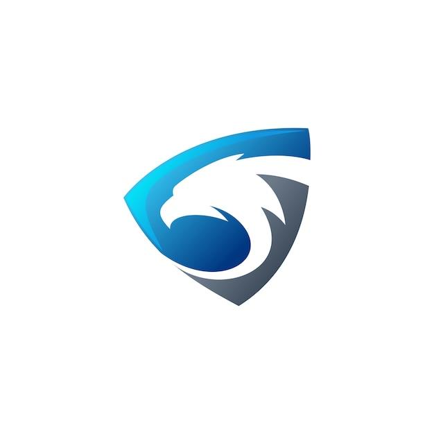 Logotipo do escudo de águia Vetor Premium