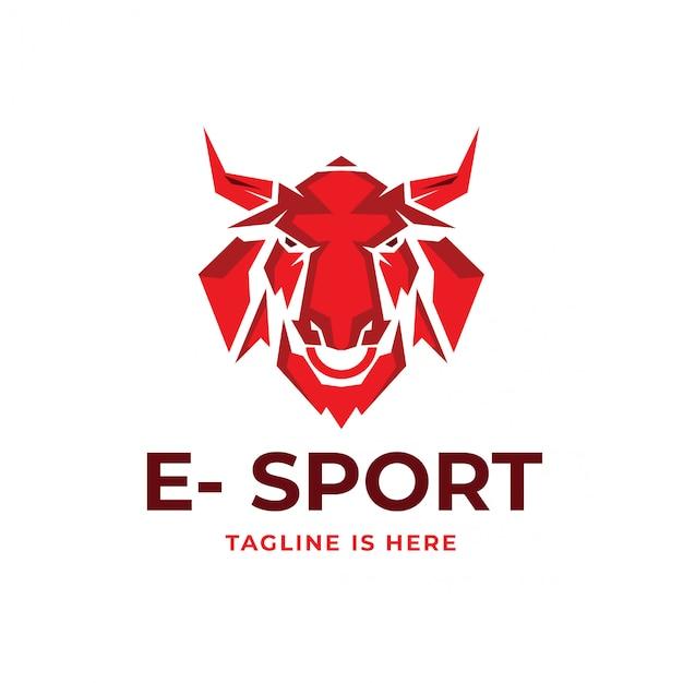 Logotipo do esport Vetor Premium