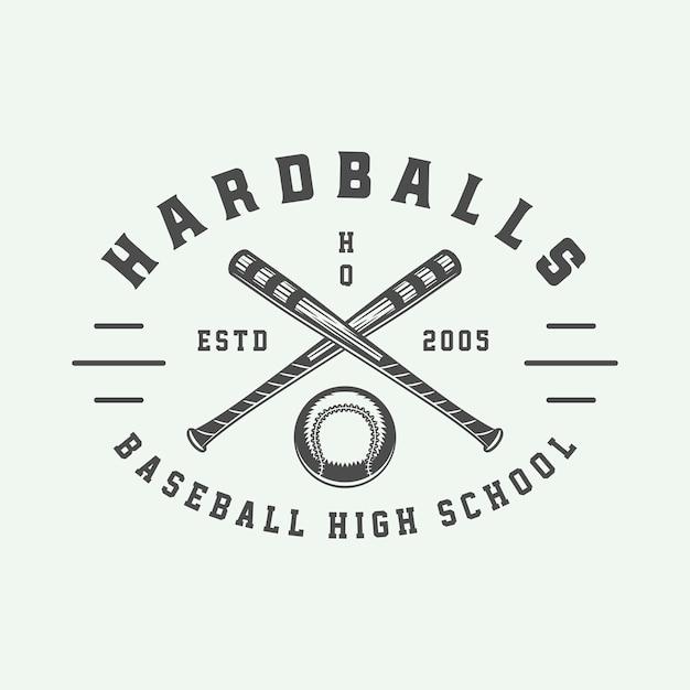 Logotipo do esporte de beisebol Vetor Premium