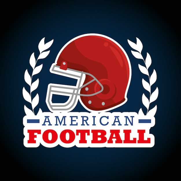 Logotipo do esporte de futebol americano Vetor grátis