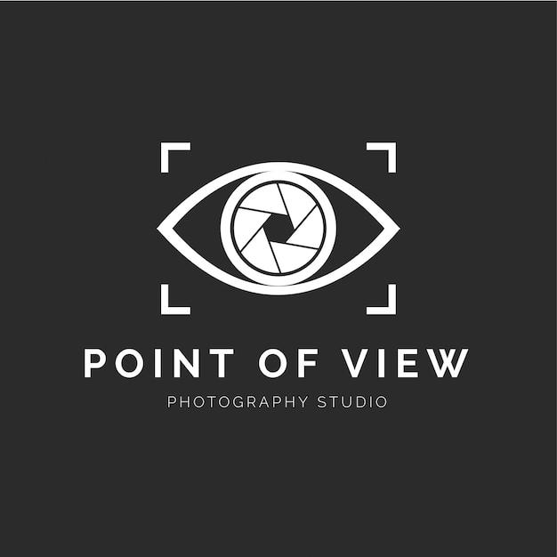 Logotipo do estúdio de fotografia moderna Vetor grátis