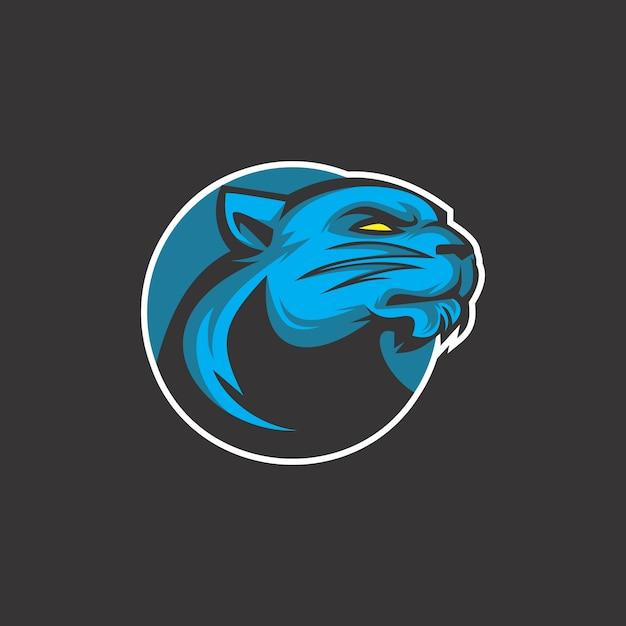 Logotipo do gato do trovão Vetor Premium