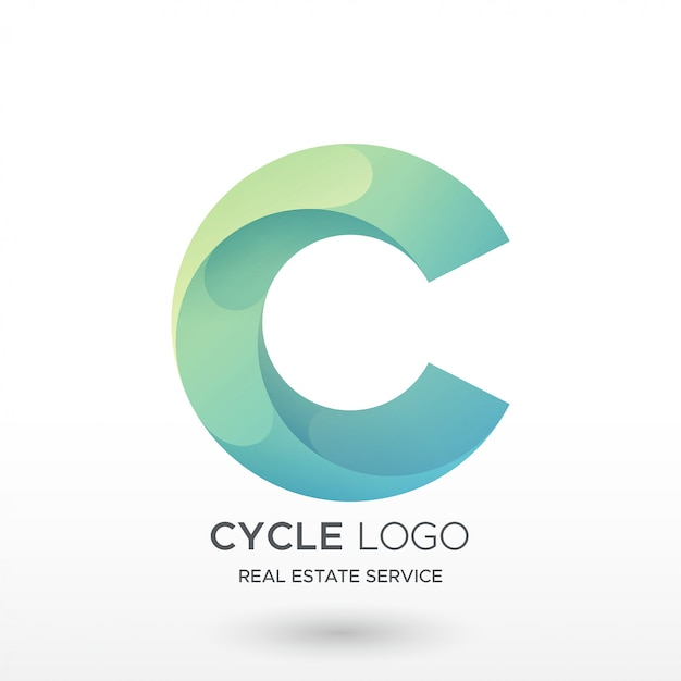 Logotipo do gradiente c Vetor Premium