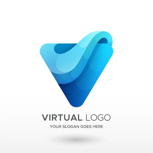 Logotipo do gradiente v Vetor Premium