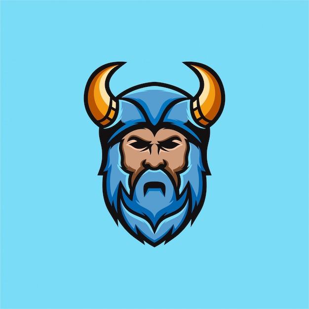 Logotipo do guerreiro Vetor Premium