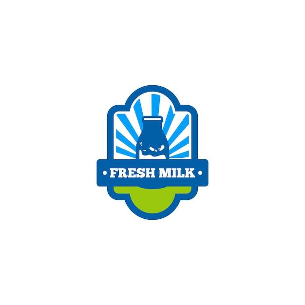 Logotipo do leite Vetor Premium