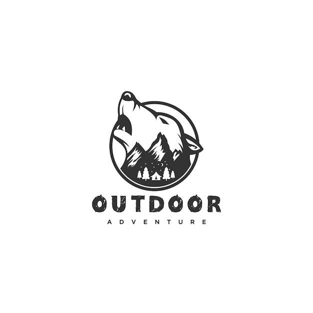 Logotipo do lobo Vetor Premium